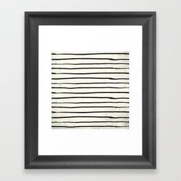 Horizontal Ivory Stripes II Framed Art Print
