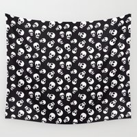 skulls Wall Tapestries featuring Skulls by Sara Showalter