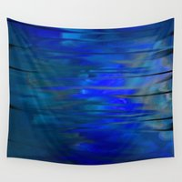 chill Wall Tapestries featuring Blue Chill by Jennifer Warmuth Art And Design