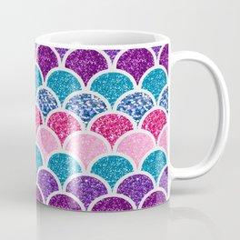 cute pink purple turquoise mermaid scales Coffee Mug