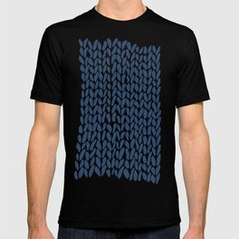 Hand Knit Zoom Navy T-shirt