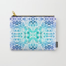 Floral Print - Teal & Purple Carry-All Pouch