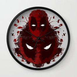 Dead Ink Blot Wall Clock