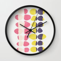 Painted Pebbles 3 Wall Clock