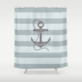 AFE Grey Nautical Anchor Shower Curtain