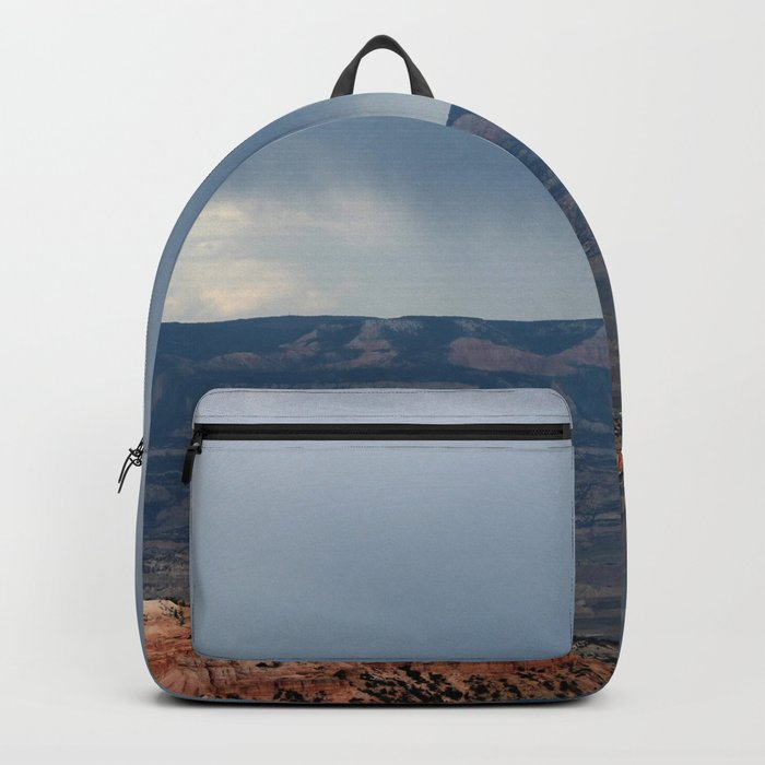 Thunderstorm coming over Bryce Canyon Backpack