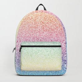Colorful Rainbow Watercolor Trendy Glitter Mermaid Pastel Iridescent Backpack