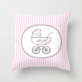 Congratulations! Variant for a girl. Throw Pillow
