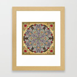 Mandala Elephants Framed Art Print