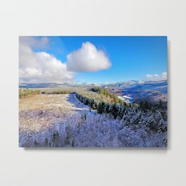 First Snow Pacific Northwest Metal Print