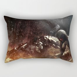 At Hell's Gate Rectangular Pillow