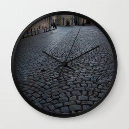 Cobbled Street, Prague  Wall Clock