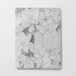 Stone Flowers Metal Print
