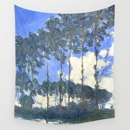 Monet : Poplars on the River Epte Wall Tapestry