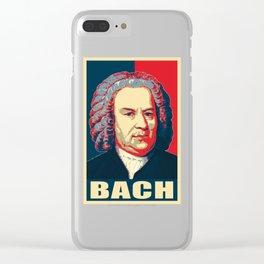 Johann Sebastian Bach Pop Art Clear iPhone Case