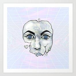 Porcelain Doll Broken Beauty Art Print