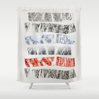 tape Shower Curtains featuring Nature Tape by Monty