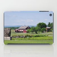 battlefield iPad Cases featuring Barn on the Battlefield by Scenic Sights by Tara