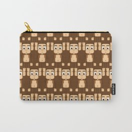 Super cute animals - Cheeky Brown Monkey Carry-All Pouch