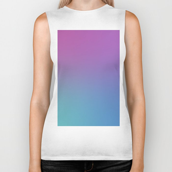 SUPERSTITION FUTURE - Minimal Plain Soft Mood Color Blend Prints Biker Tank