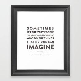 Imagine - Quotable Series Framed Art Print