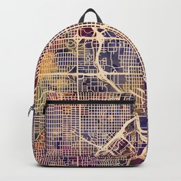 Denver Colorado Street Map Backpack