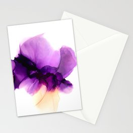 Pansy Flower Alcohol Ink Stationery Cards