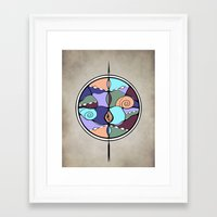 compass Framed Art Prints featuring Compass by DebS Digs Photo Art