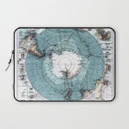 Antarctica Map Laptop Sleeve
