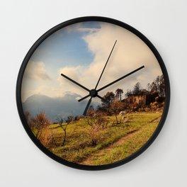 Les Alpes Wall Clock