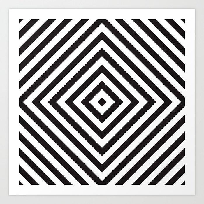 Echo - black Art Print