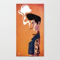 rockabilly Canvas Prints featuring Rockabilly Boy by quentinschall