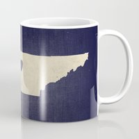 tennessee Mugs featuring Nashville, Tennessee by Fercute
