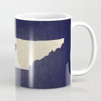 nashville Mugs featuring Nashville, Tennessee by Fercute