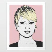jennifer lawrence Art Prints featuring Jennifer Lawrence by CBDB