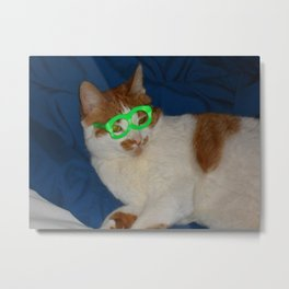 Libby Wearing Glasses Metal Print