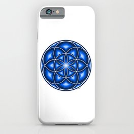 Blue Seed Of Life - Sacred Geomtry iPhone Case