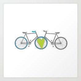 Bikes in Love Art Print