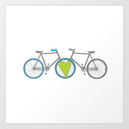Bikes in Love Art Print