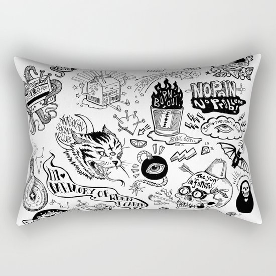 3am Thoughts Club Rectangular Pillow