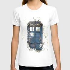Tardis LARGE Womens Fitted Tee White