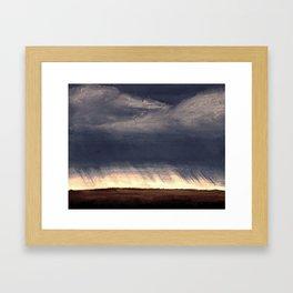 Storm Over Saskatchewan Fields Framed Art Print