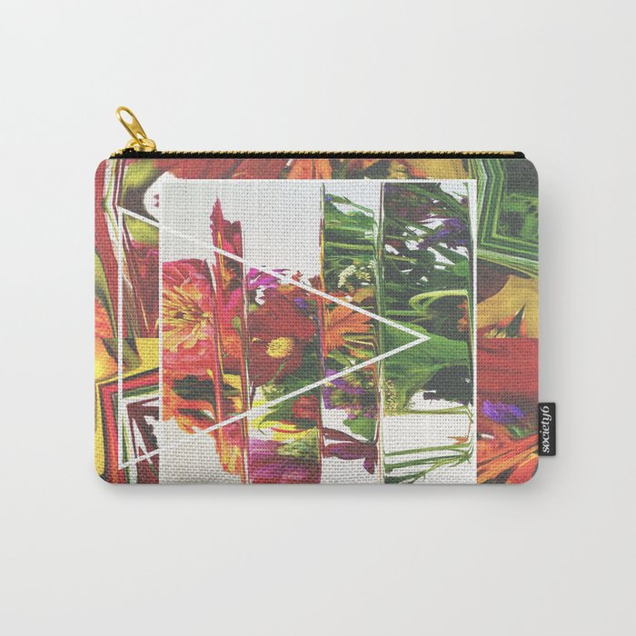 Fake Flowers Carry-All Pouch