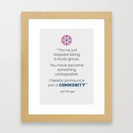 Community Quote Print Framed Art Print