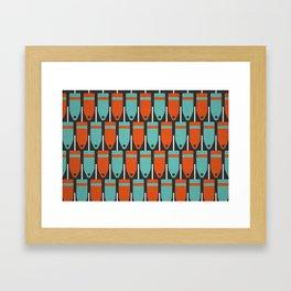 Buoys, Orange & Blue Framed Art Print