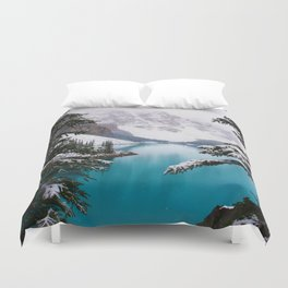 Paradise in the Mountains (Color) Duvet Cover