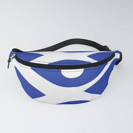 Blue and White Pattern Fish Eye Design Fanny Pack