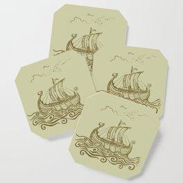 Viking ship Coaster