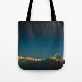 Himalayan sunrise Tote Bag