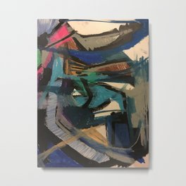 abstraction in oil pastels Metal Print